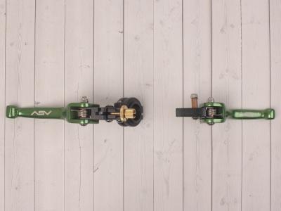 Рычаги сцепления и тормоза ASV replica зеленые длинные фото 9