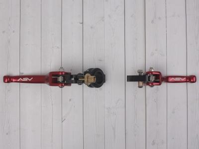 Рычаги сцепления и тормоза ASV replica красные длинные фото 9