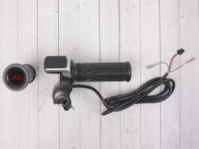 Ручка газа для электробайка c грипсами 48v с ключом фото 5