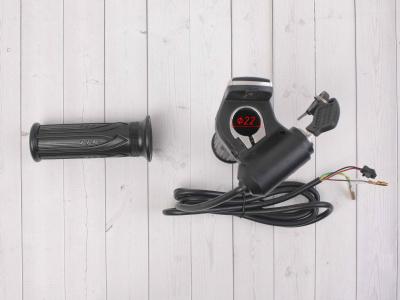Ручка газа для электробайка c грипсами 48v с ключом фото 7
