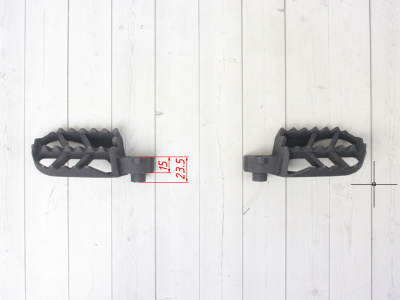 Подножки  из нержавейки для питбайков BSE фото 5