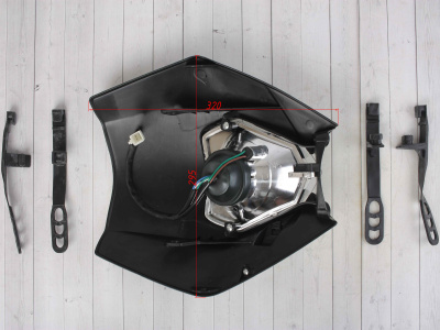 Фара галогенная черная KTM Replica фото 5