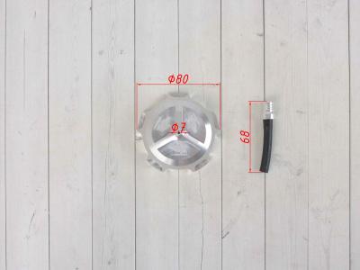 Крышка бензобака CNC FR серебряная фото 3