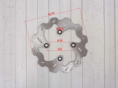Тормозной диск фигурный передний KAYO CRF d-210mm (2014) фото 3