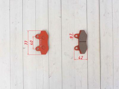 """Колодки тормозные (диск)   Zongshen RACE   (красные)   """"YONGLI"""" фото 7"""