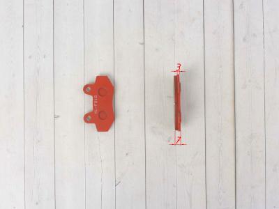 """Колодки тормозные (диск)   Zongshen RACE   (красные)   """"YONGLI"""" фото 9"""