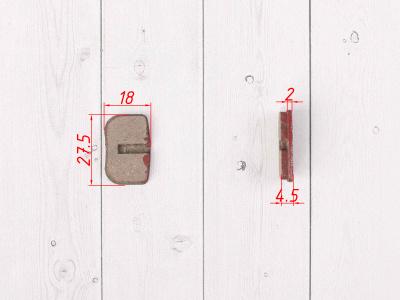 Тормозные колодки механические, 2шт / комплект фото 3