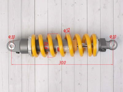 Амортизатор задний газомасляный (3 регулировки) 300mm, (d-10, m-10) фото 3
