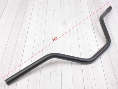 Руль для питбайка алюминиевый 7/8 (22,2 мм) 740 x 180 мм CN черный фото 3