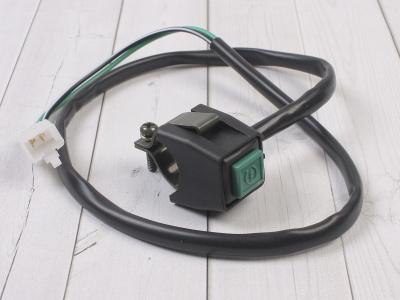 Кнопка вкл/выкл двигателя квадратная зеленая фото 1