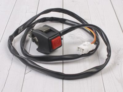 Кнопка вкл/выкл двигателя квадратная красная T1 фото 1