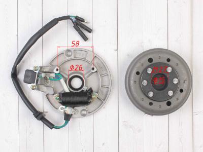 Генератор в сборе двиг. YX125-160 см3 (1 катушка) SM-PARTS фото 3