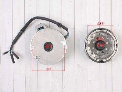 Генератор в сборе двиг. YX125-160 см3 (1 катушка) SM-PARTS фото 7