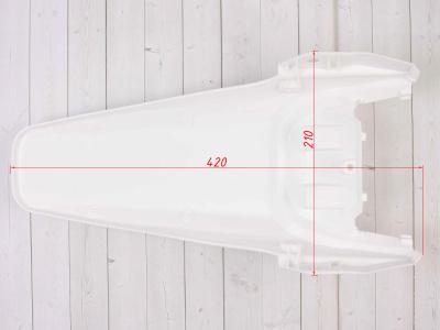 Крыло заднее KAYO CRF70/KRZ белое фото 7