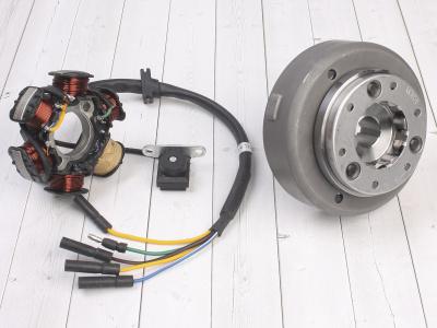 Генератор в сборе KAYO двиг. YX140Е см3 (эл.стартер) CN фото 1