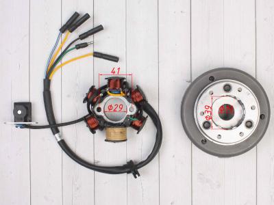 Генератор в сборе KAYO двиг. YX140Е см3 (эл.стартер) CN фото 3
