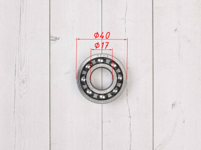 Подшипник вторичного вала КПП. двиг. YX140-160. ZNL 6203 40x17x12 фото 3