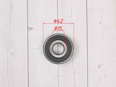 Подшипник колеса ZNL (Индия) 6302 2RS  42х15х13 под ось 15мм фото 3