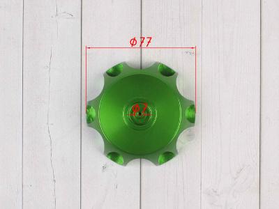 Крышка топливного бака алюминиевая d-48,5 мм зеленая фото 3