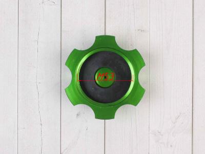 Крышка топливного бака алюминиевая d-48,5 мм зеленая фото 7