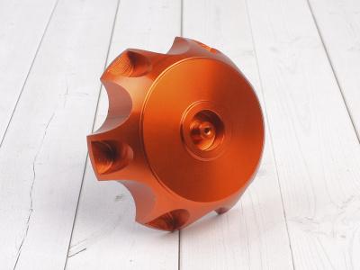 Крышка топливного бака алюминиевая d-48,5 мм оранжевая фото 1