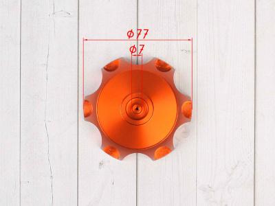Крышка топливного бака алюминиевая d-48,5 мм оранжевая фото 3