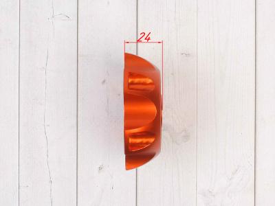 Крышка топливного бака алюминиевая d-48,5 мм оранжевая фото 5