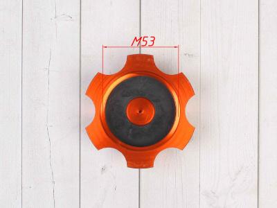 Крышка топливного бака алюминиевая d-48,5 мм оранжевая фото 7