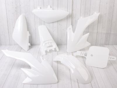Комплект пластика для питбайка (тип CRF50) белый фото 3