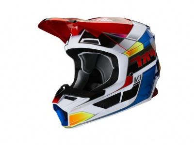 Мотошлем Fox V1 Yorr Helmet Blue/Red XL 61-62cm (25476-149-XL) фото 1