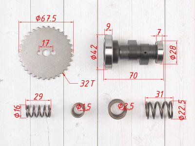 Распредвал спортивный KAYO двиг. YX140 см3 CN фото 3