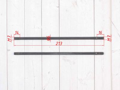 Шпильки цилиндра левые (2шт.) KAYO двиг. YX140Е  фото 3