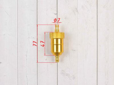 Бензофильтр CNC золотой фото 5