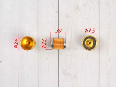 Бензофильтр CNC золотой фото 7