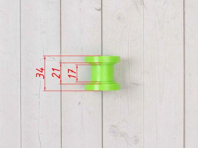Ролик натяжитель зеленый М10 фото 3