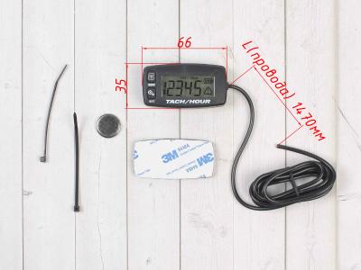 Счетчик моточасов/тахометр (подсветка, смен. батарея) SM-PARTS SMP-032R черный фото 3