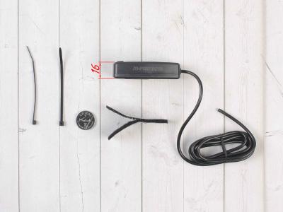 Счетчик моточасов/тахометр (подсветка, смен. батарея) SM-PARTS SMP-032R черный фото 5