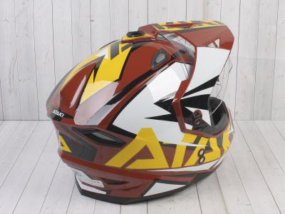 Шлем (мотард) Ataki JK802 Rampage коричневый/желтый глянцевый   M фото 9