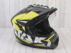 Шлем (мотард) Ataki JK802 Rampage Hi-Vis желтый/серый матовый    S превью 5