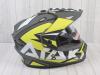 Шлем (мотард) Ataki JK802 Rampage Hi-Vis желтый/серый матовый    S превью 7