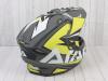 Шлем (мотард) Ataki JK802 Rampage Hi-Vis желтый/серый матовый    S превью 9