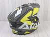 Шлем (мотард) Ataki JK802 Rampage Hi-Vis желтый/серый матовый  XL превью 9