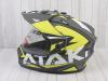 Шлем (мотард) Ataki JK802 Rampage Hi-Vis желтый/серый матовый  XL превью 15