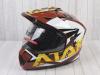 Шлем (мотард) Ataki JK802 Rampage коричневый/желтый глянцевый    S превью 1