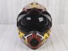 Шлем (мотард) Ataki JK802 Rampage коричневый/желтый глянцевый  L превью 3