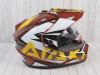 Шлем (мотард) Ataki JK802 Rampage коричневый/желтый глянцевый  L превью 7