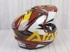 Шлем (мотард) Ataki JK802 Rampage коричневый/желтый глянцевый  L превью 9