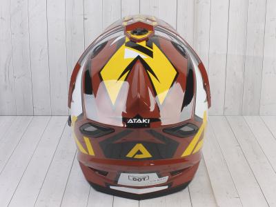 Шлем (мотард) Ataki JK802 Rampage коричневый/желтый глянцевый  L фото 11