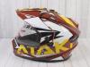 Шлем (мотард) Ataki JK802 Rampage коричневый/желтый глянцевый  L превью 15