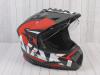 Шлем (мотард) Ataki JK802 Rampage красный/серый матовый    S превью 5